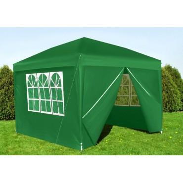 Pawilon ogrodowy składany 4 śc. 3x3 zielony P5535