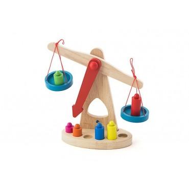 Waga drewniana zabawka ekologiczna