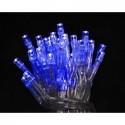 Lampki 40 LED na baterie - niebieski