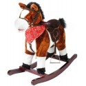 Koń na biegunach 74cm/K4589 - brązowy
