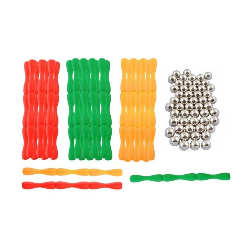 Klocki magnetyczne 3D - 130 elementów