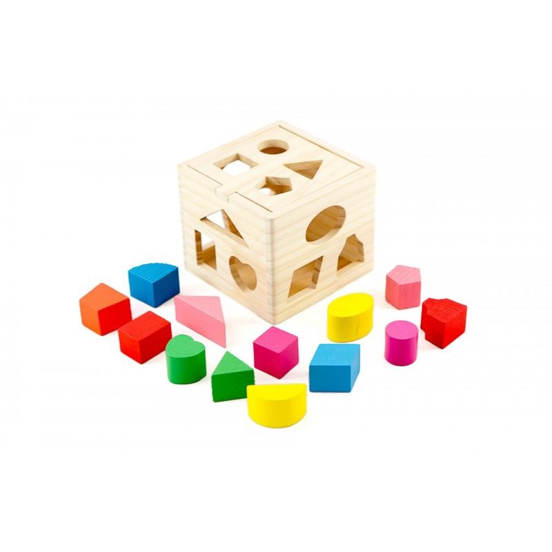 Drewniana kostka edukacyjna Lilupi