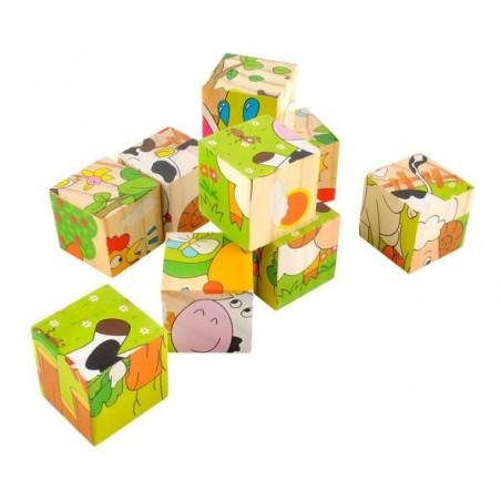 Układanka drewniana - puzzle 6w1