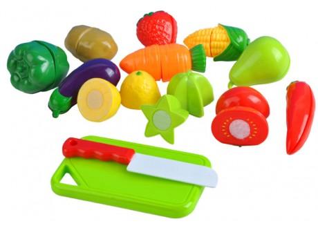 Zestaw zabawek - warzywa i owoce na rzep