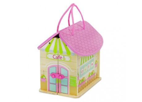 Domek drewniany dla lalek D6522