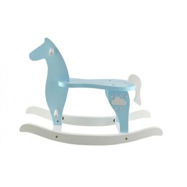 Koń na biegunach drewniany...