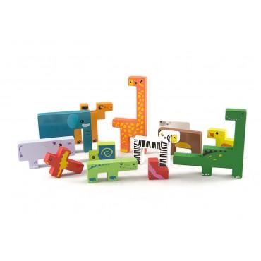 Tetris zwierzęta klocki...