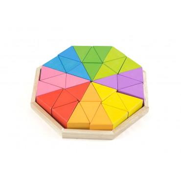 Klocki trójkąty kolorowe...