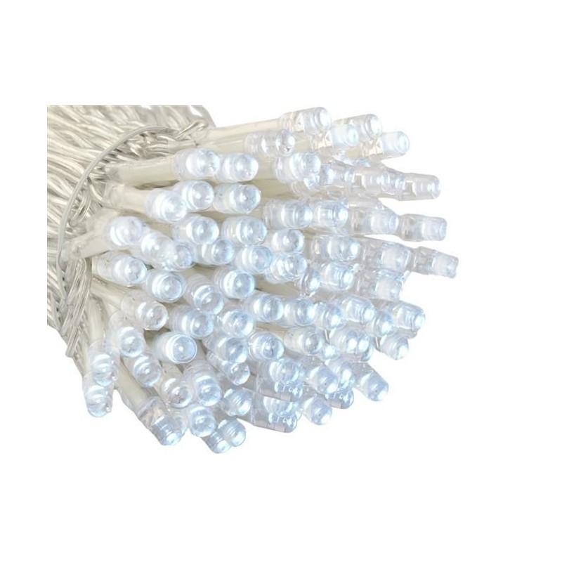 Lampki 200 LED na baterie - zimny biały