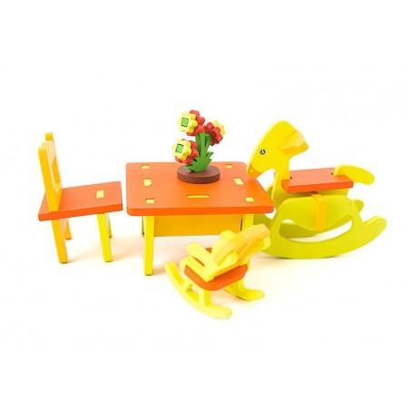 Mebelki drewniane dla lalek pokój dziecięc