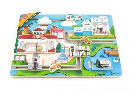 Tablica manipulacyjna zamki miasto Montessori