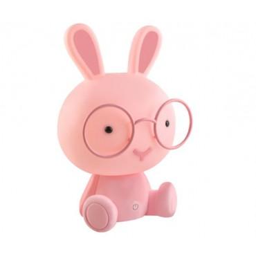 Lampka nocna - królik różowy