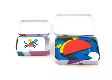 Układanka klocki karty Montessori