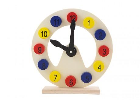 Drewniany zegar do nauki godzin edukacyjny