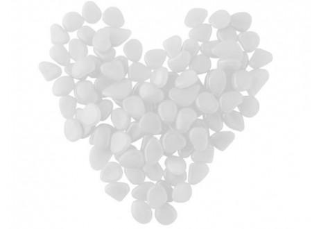 Kamienie świecące - zestaw 100szt białe