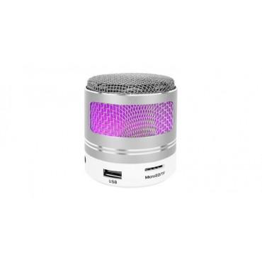 Głośnik bezprzewodowy srebrny