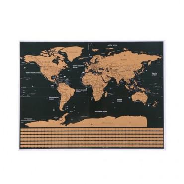 Mapa świata - zdrapka z...