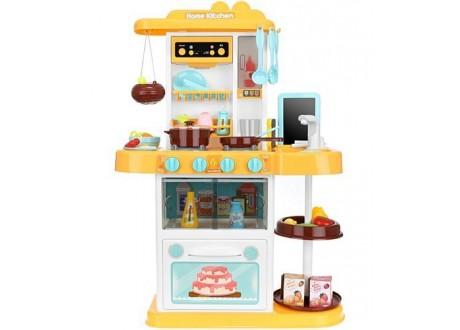 Kuchnia zabawkowa 72cm żółta + para