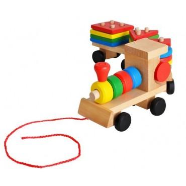 Pociąg drewniany - sorter