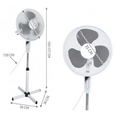 Wentylator wiatrak stojący 43 cm regulowany