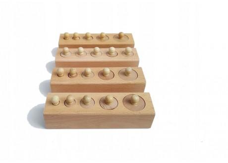 Cylindry Montessori bloki z cylindrami układanka 2
