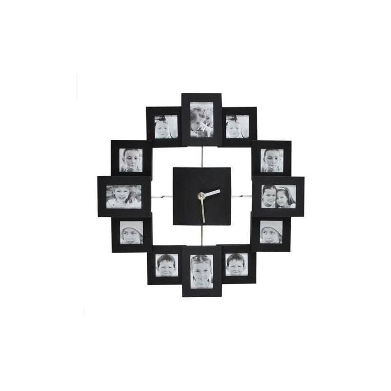 Zegar ścienny z ramkami na zdjęcia