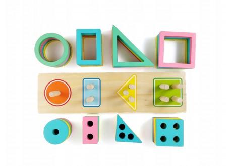 Sorter montessori figury i kształty ukladanka 33el