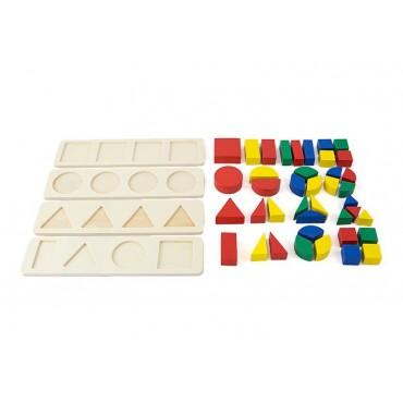 Sorter ukladanka drewniana puzzle klocki edukacyjne 4 szt