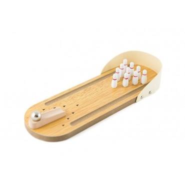 Drewniane mini kręgle gra bowling na biurko