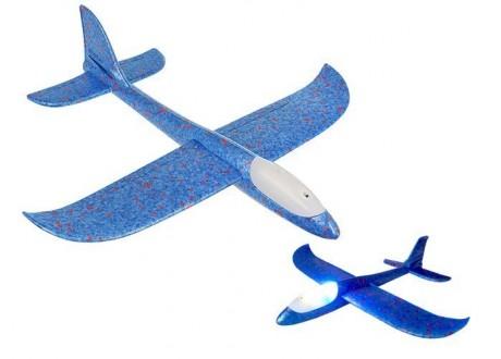 Samolot styropianowy LED niebieski