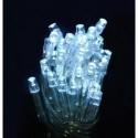 Lampki 40 LED na baterie - zimny biały