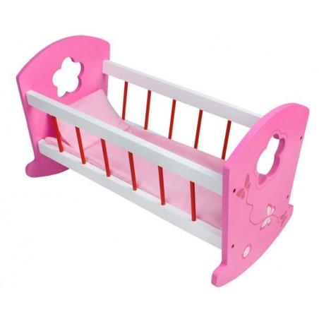 Łóżeczko dla lalek drewniane