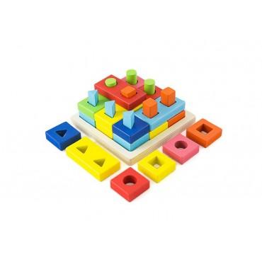 Sorter logiczny kształty kolory układanka sensoyczna puzzle