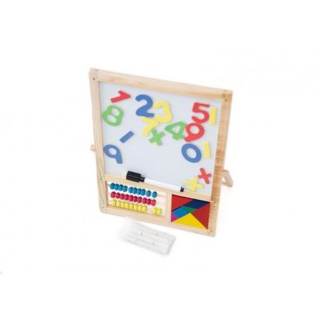 Edukacyjna dwustronna tablica kredowo magnetyczna