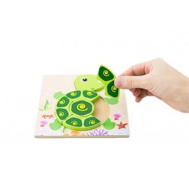 Mini Puzzle żółw pierwsze klocki układanka