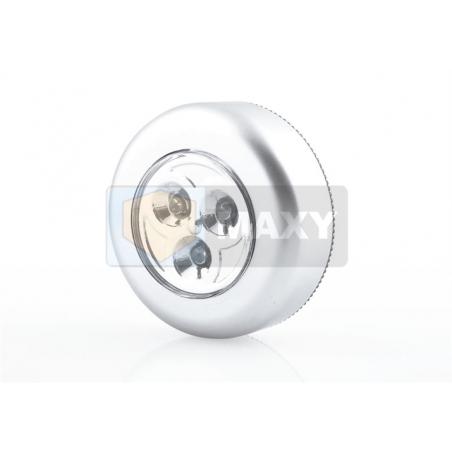 Lampka samoprzylepna 3 LED srebrna