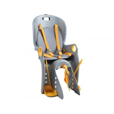 Fotelik rowerowy grafitowy